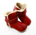 Skeanie Leather SNUG Boots - Red