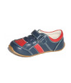 Skeanie Kids Leather Trainers - Navy / Red