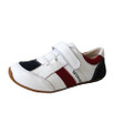 Skeanie Kids Leather Trainers - Navy / White / Red