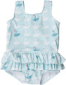 SOOKIbaby Little Swan Blue UV 50 Frilly Skirt Tank (0 to 2)