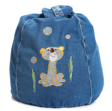 Cocoon Couture Timmy Tiger Denim Bean Bag