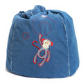 Cocoon Couture Mini Monkey Bean Bag denim