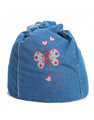 Cocoon Couture Butterfly Denim Bean Bag