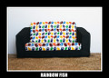 Rainbow Fish Kids Flip Out Sofa