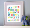 Letters and Number Print - Brights
