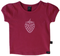 Girls Pink Strawberry Tee