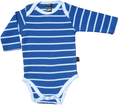 Blue Stripe long sleeve onesie