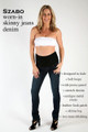 Szabo Maternity Worn-In Skinny Jeans Denim