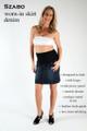 Szabo Maternity Worn-In Skirt Denim