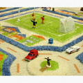 Interactive Play Rug Traffic Blue