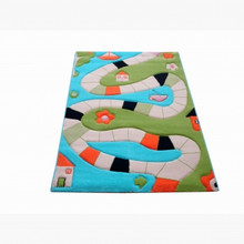 Interactive Play Rug Playing Way Aqua