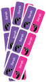 Personalised Shoe Labels Pink & Purple