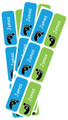 Personalised Shoe Labels Green & Blue