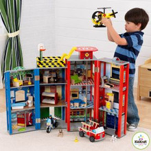 Every Day Heroes Police & Fire station Play Set