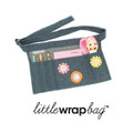 littlewrapbag Felt Flowers on Denim