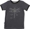 SOSOOKI King Cool Vintage Short Sleeve Tee with Dragonfly - Front View