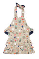 Bluebird & Honey Reversible Apron in Denim/Beige