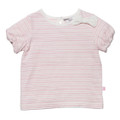 Bebe Olivia Stripe Short Sleeve Tee with Bow