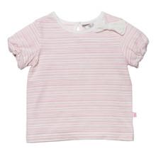 Bebe Olivia Stripe Short Sleeve Tee with Bow