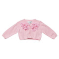 Bebe Olivia Girls Cardigan with Flowers - Lolly Pink