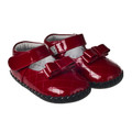 Little Blue Lamb Baby girls soft sole shoe in Red