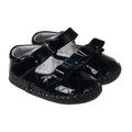 Little Blue Lamb Baby girls soft sole shoe in Black