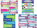 Personalised School Label Pack, Vinyl (54) & Iron On (48) - choose your designs (Pack 3)