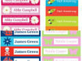 Personalised School Label Pack, Vinyl (27) & Iron On (24) - choose your designs (Pack 4)