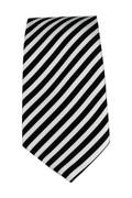 Men's Striped Necktie - Black/White