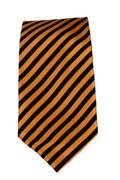 Men's Striped Necktie - Orange/Black