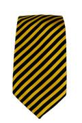 Men's Striped Necktie - Black/Gold