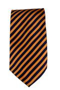 Men's Striped Necktie - Navy/Orange