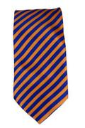 Men's Striped Necktie - Orange/Royal