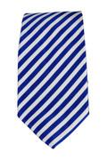 Men's Striped Necktie - White/Royal