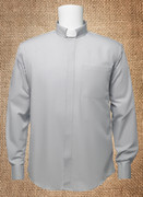 Tab Collar Men's Clergy Shirt Grey LS