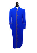 -CI- Men's Clergy Cassock - Sapphire Blue and Gold
