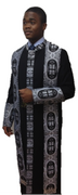 Premium Clergy Robe In Black and Silver
