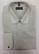 **Extreme Deal** Fashion Dress Shirt with Prime Collar AND French Cuffs - Light Olive