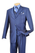 """ULTIMATE"" 42R Men's 3 Pc. INSIGNIA BLUE Fashion Sharkskin Suit"
