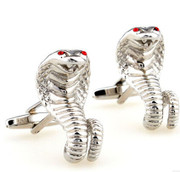 Amazing Cobra Snake with Red Stone Cufflinks
