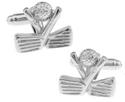 Different Golf and Club Cufflinks in an Elegant Silver