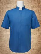 Tab Collar Men's Clergy Shirt Royal Blue SS