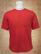 Men's Neckband Short Sleeves Shirt Red