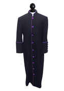 Men's Clergy Cassock - Black and Purple