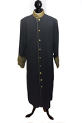 Men's Clergy Cassock - Black & Special Gold Brocade