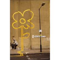 Banksy Canvas Print - Yellow Flower