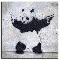 Banksy Canvas Print - Panda Wall