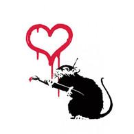 Banksy Canvas Print - Love Rat