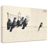 Banksy Canvas Print - Bird Immigration