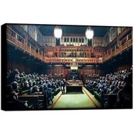 Banksy Canvas Print - Monkey Parliament